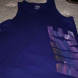 NIKE Royal Blue Workout Top with side  logo